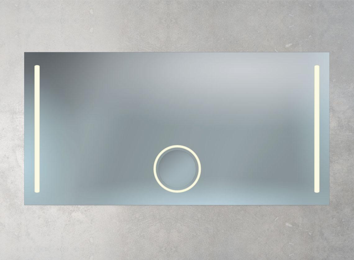 Badspiegel + Kosmetikspiegel und 2 LED Lampen