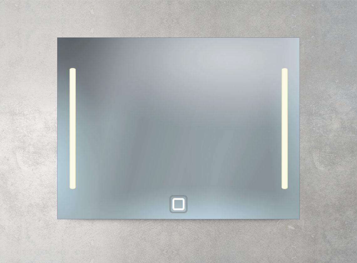 Badspiegel 2 LED Lampen und Sensor