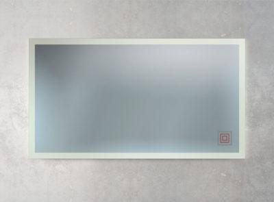 Hintergrundbeleuchtung mit mattiertem Rand