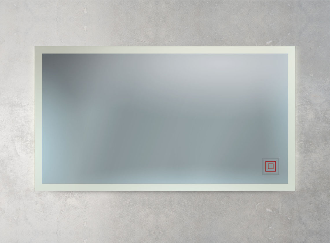 Badspiegel inkl. Ambientebeleuchtung