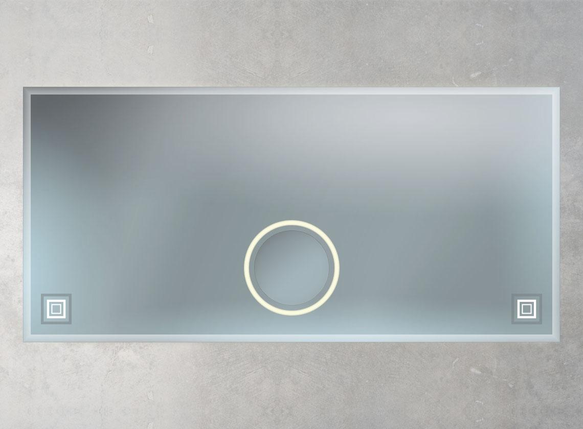Badspiegel mit Facettenschliff und KOsmetikspiegel