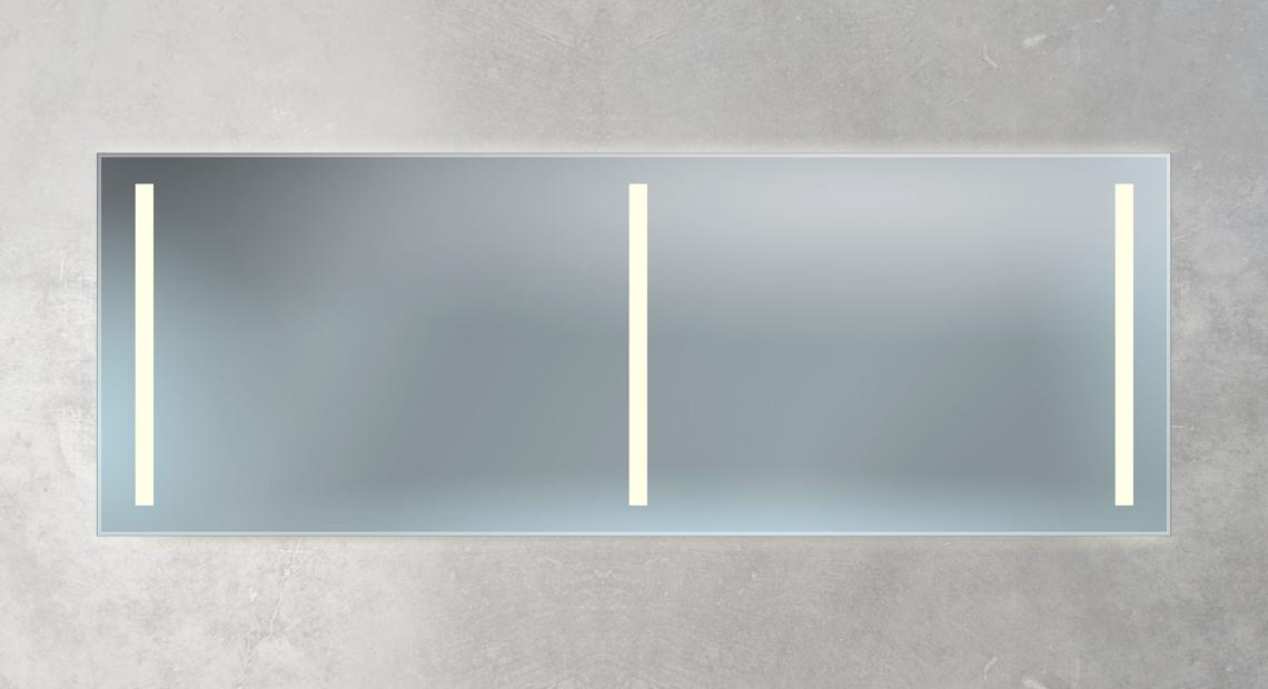 großer Doppelwaschtisch Spiegel