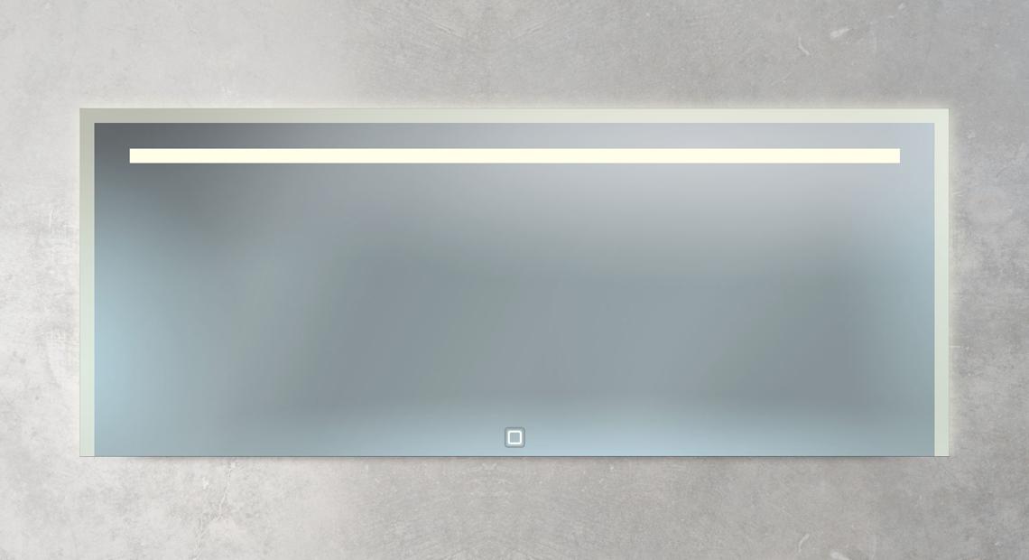 XXL Badspiegel mit Beleuchtung und Schalter