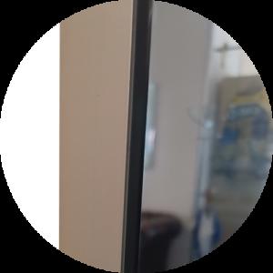Badspiegel mit Sichtschutz seitlich