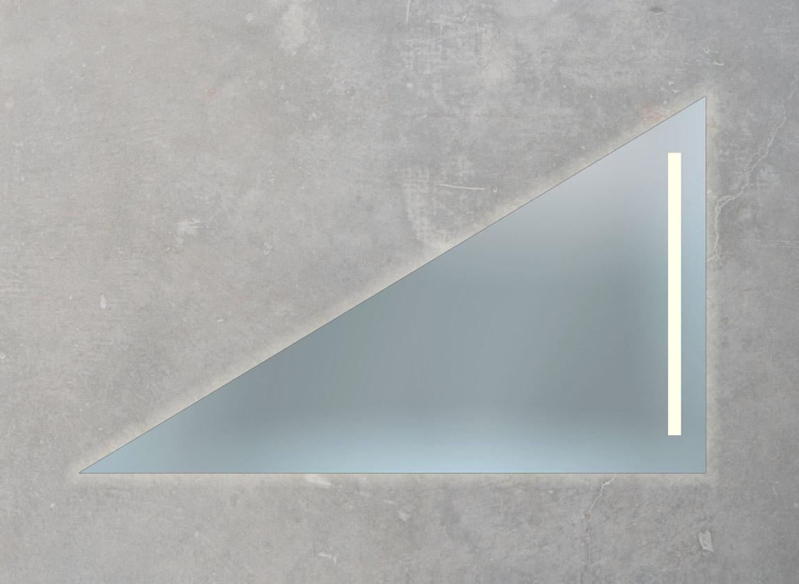 Badspiegel mit LED-Lampe und Ambientebeleuchtung