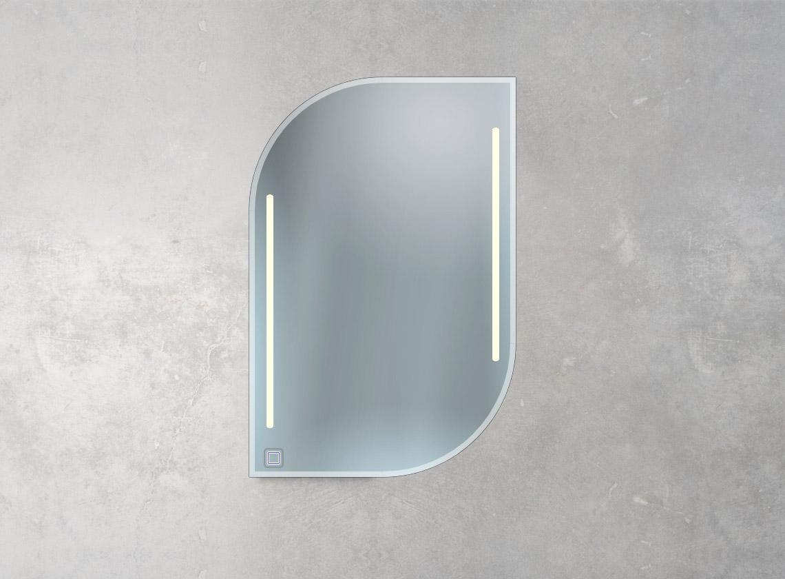 Badspiegel mit LED-Lampen und 1 Sensorschalter