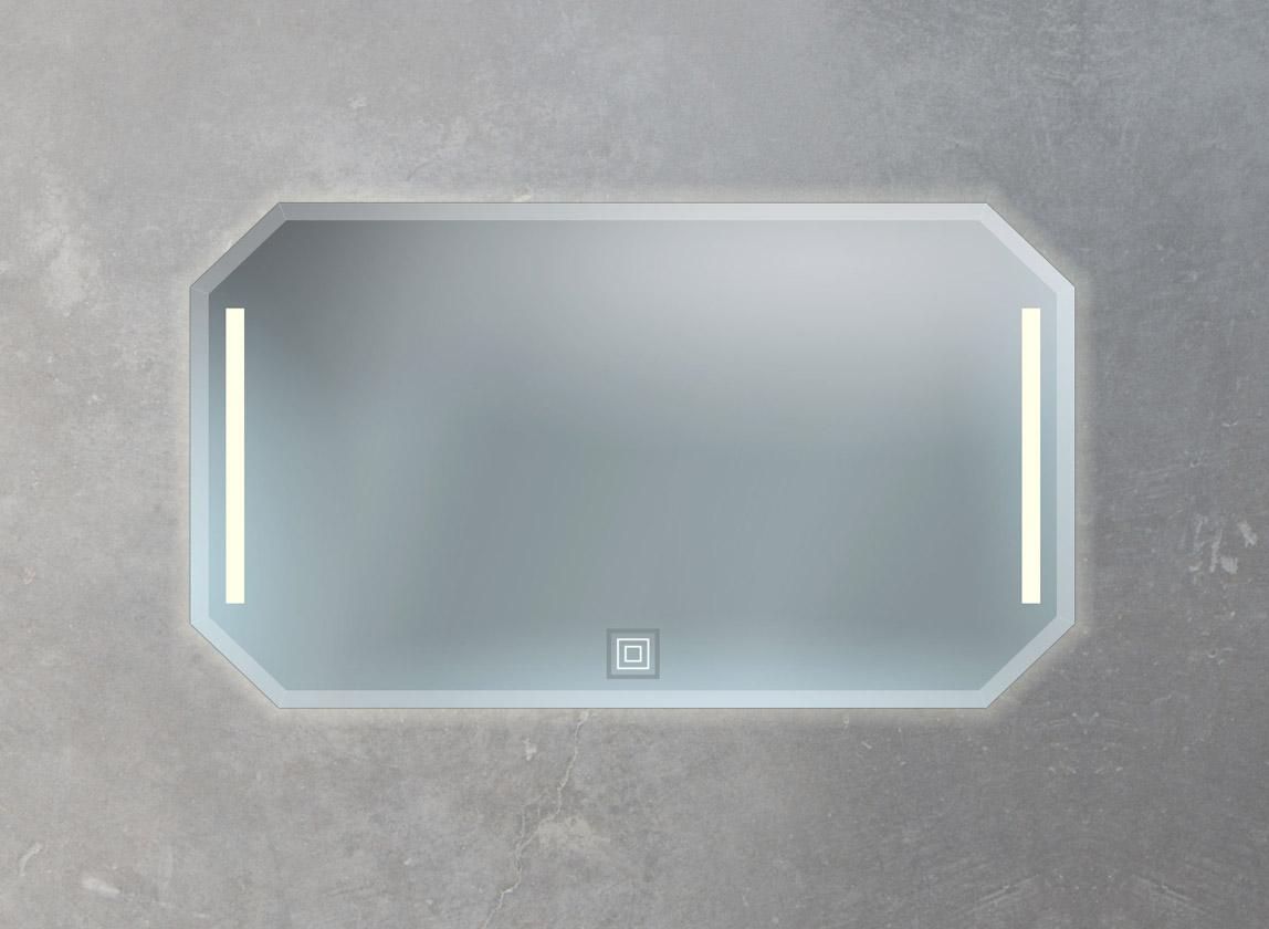 Badspiegel mit Facettenschliff und Ambiente