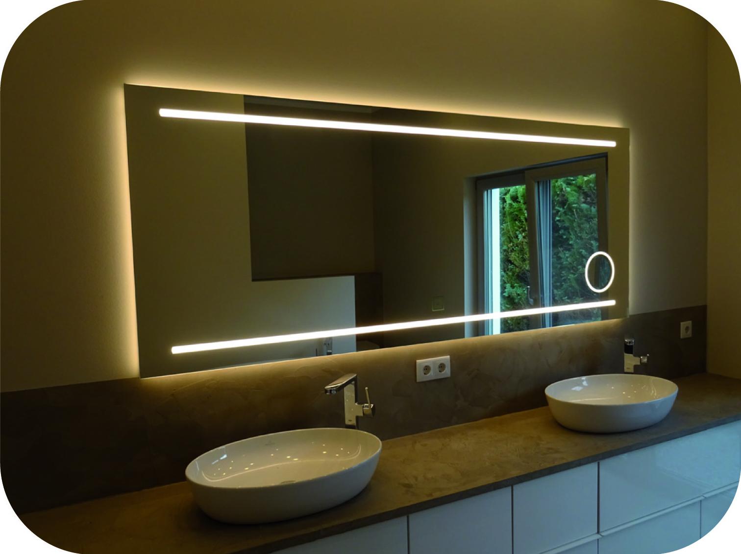 Badspiegel mit guter Ausleuchtung