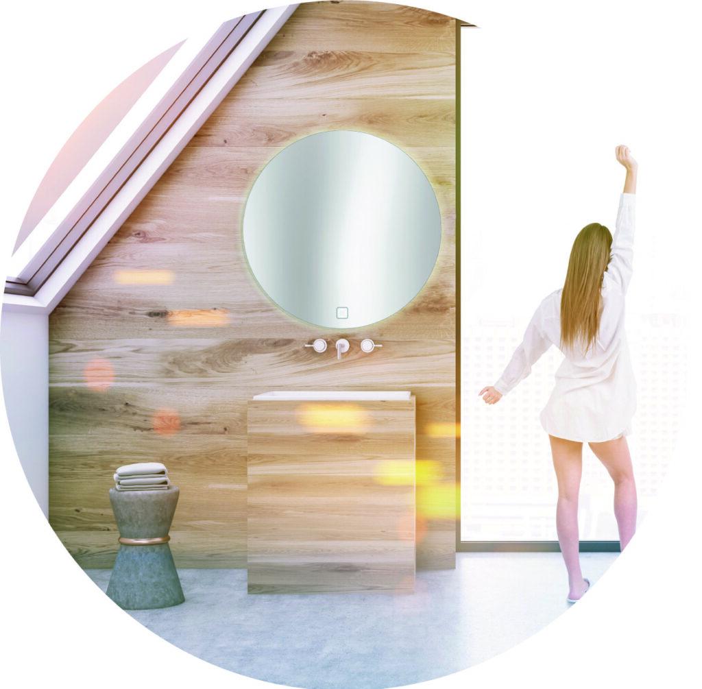 Spiegel rund D 850 mm