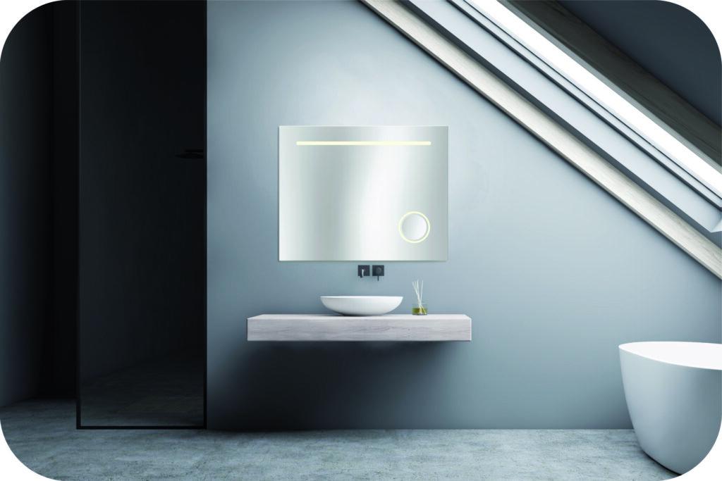 Badspiegel mit Kosmetikspiegel
