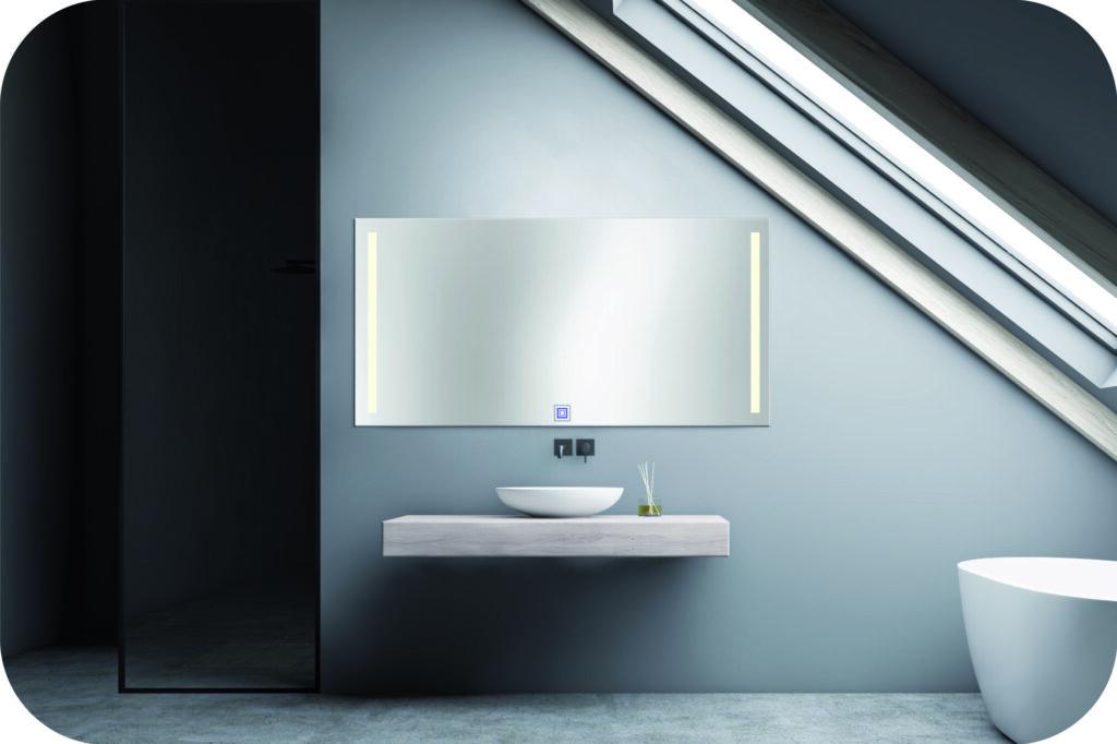 Badspiegel mit Beleuchtung rechts und links