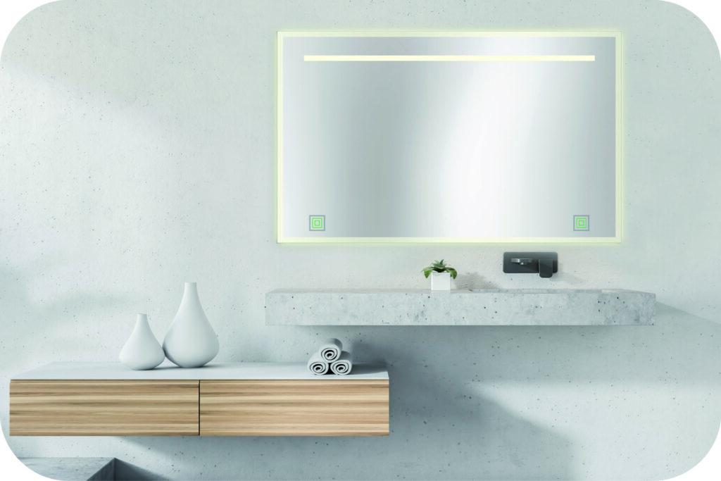 Badspiegel mit LED und Ambientebeleuchtung