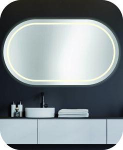 Badspiegel ohne Ecken