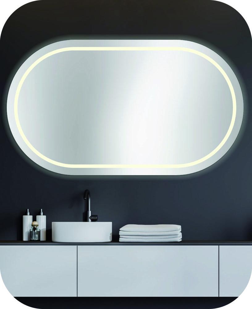 Runder beleuchteter Badspiegel