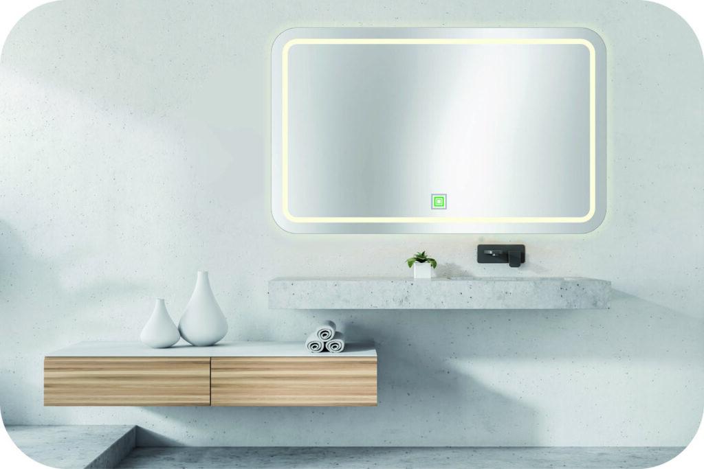 Badspiegel Ecken rund