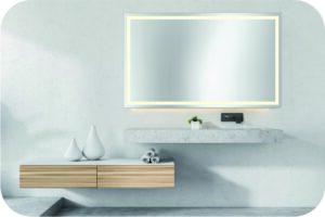 Badspiegel mit viel Licht