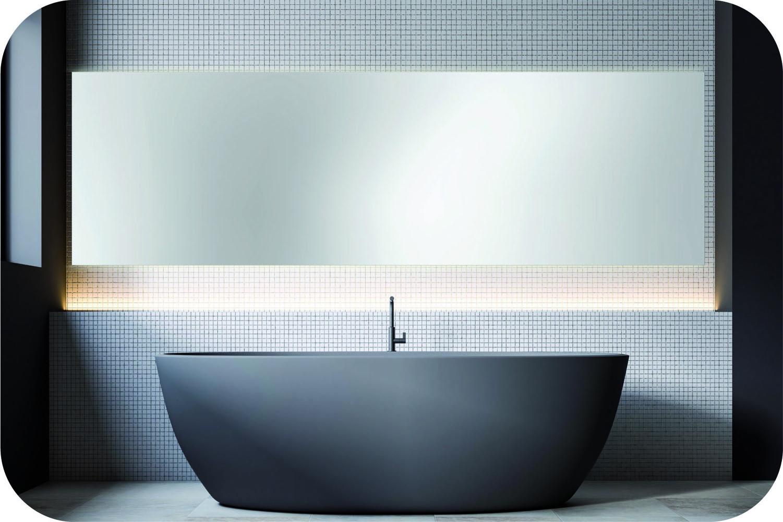 Runder Badspiegel mit Ambientebeleuchtung