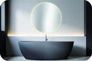 Großer Spiegel fürs Bad