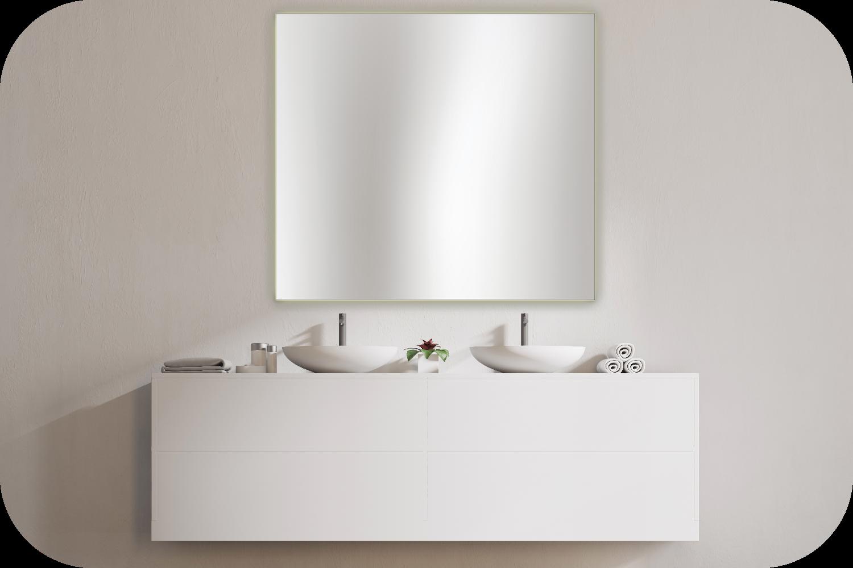 schlichter Badspiegel für Doppelwaschtisch